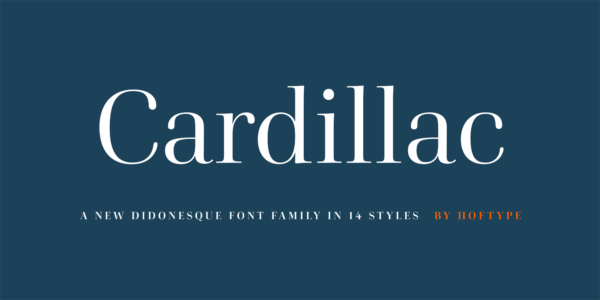 cardillac serif font