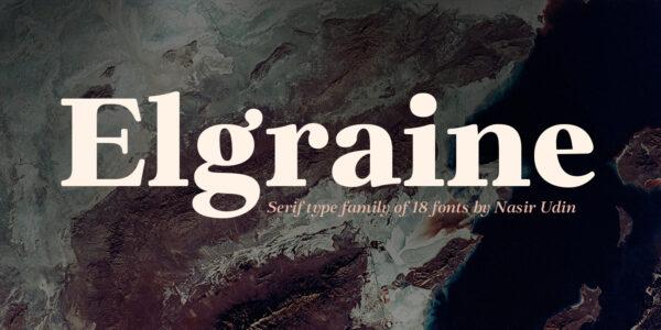elgraine serif font