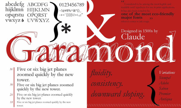 EB Garamond serif font