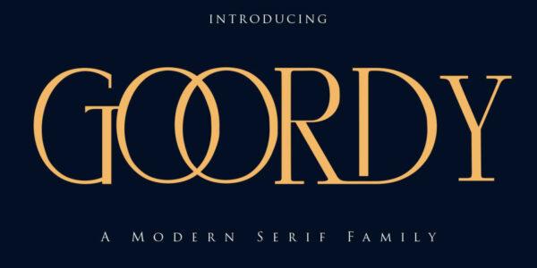 Goordy modern serif font