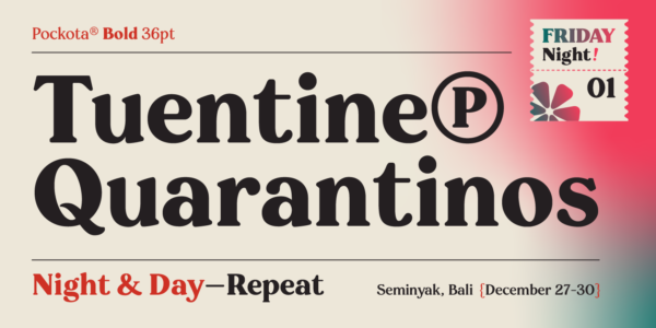 pockota retro serif font