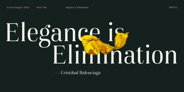 karsten serif font