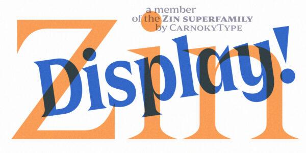 zin display serif font