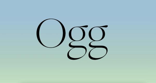 ogg serif font