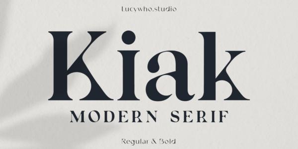 kiak modern serif font 2021