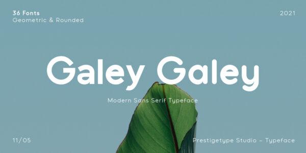 Galey modern font