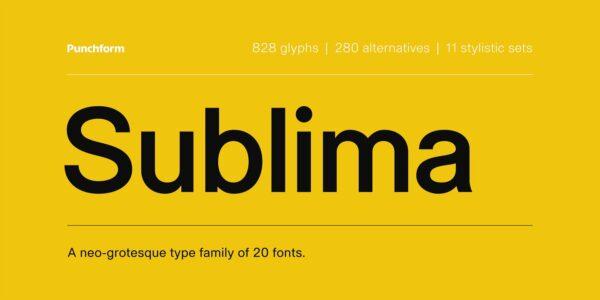 sublima modern font