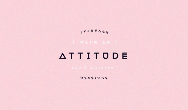attitude modern font