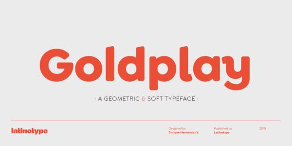goldplay geometric font