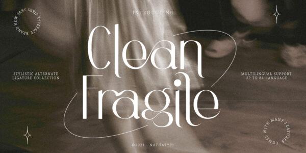 clean fragile modern font