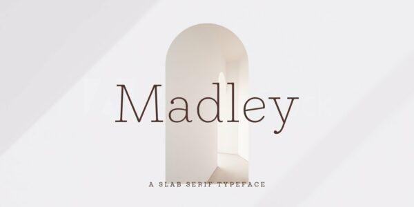 Madley modern font 2021