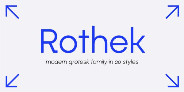 rothek modern font
