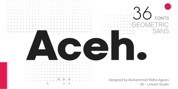 aceh modern font