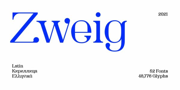 zweig modern font