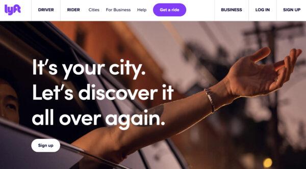 lyft website branding
