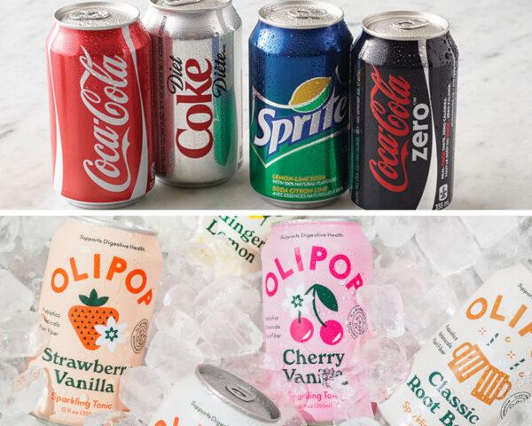 Pop can branding comparison