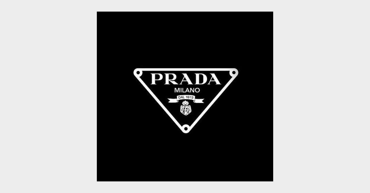 prada triangle logo