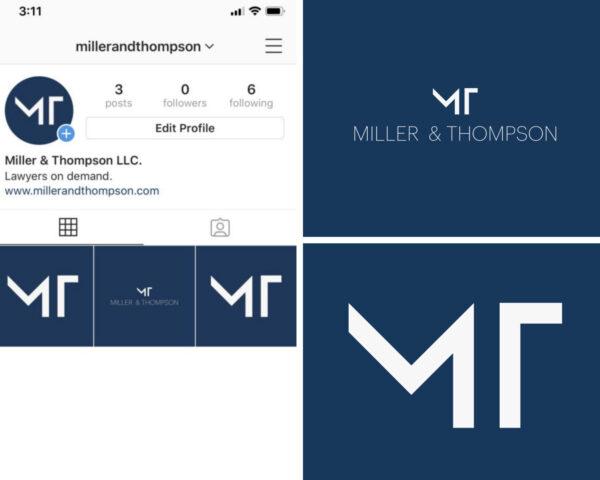 logo with monogram on instagram
