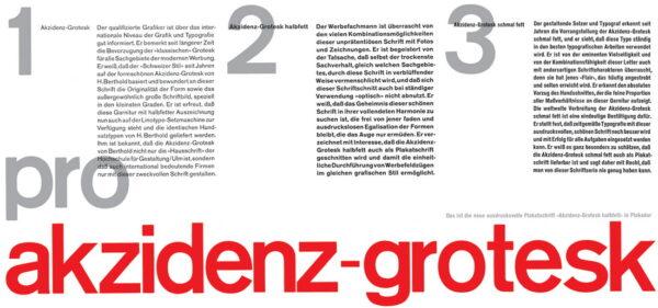 akzidenz-grotesk font