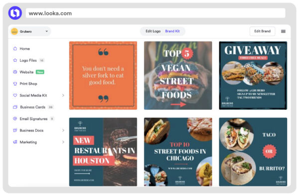 instagram post template food blog