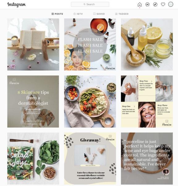 instagram grid example